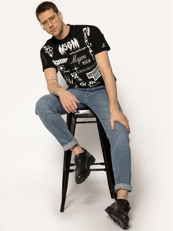 MSGM MSGM T-Shirt 2840MM101 207098 Μαύρο Regular Fit