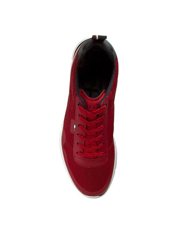 TOMMY HILFIGER TOMMY HILFIGER Sneakersy Tobias 1D FM56821330 Červená