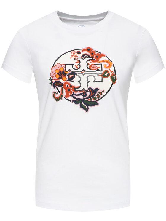 Tory Burch Tory Burch T-Shirt Paisley 59932 Biały Regular Fit