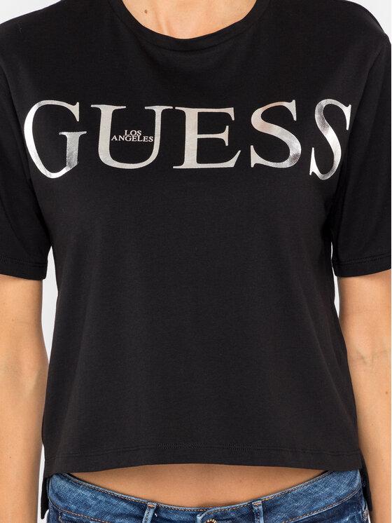 Guess Guess T-Shirt W94I70 JA900 Czarny Regular Fit