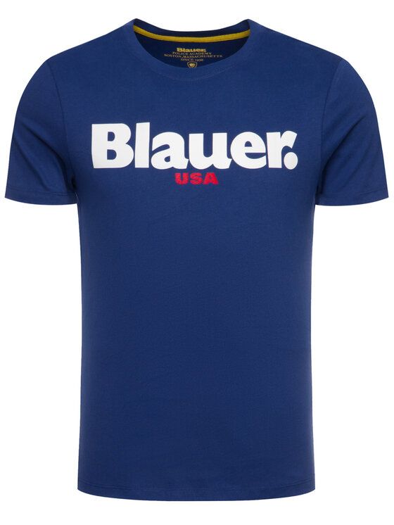 Blauer Blauer Póló 19WBLUH02231 005568 Sötétkék Regular Fit