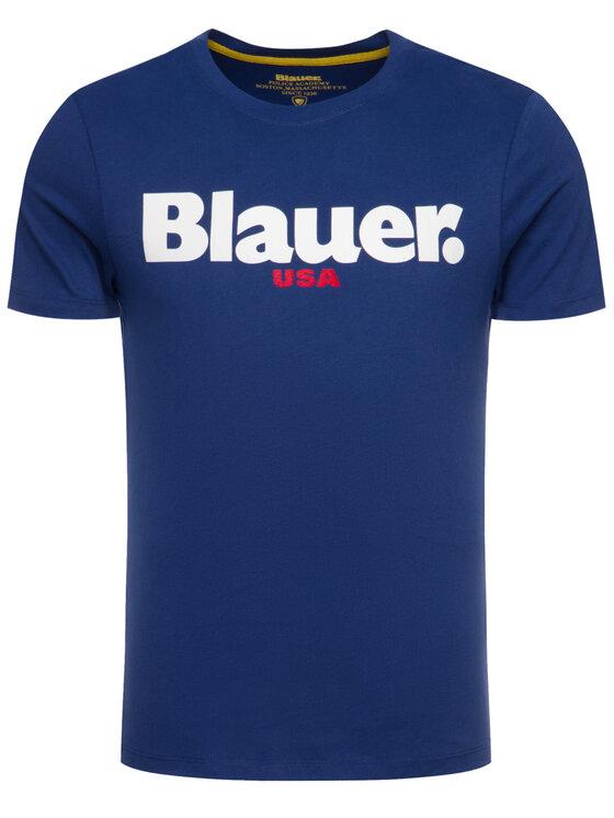 Blauer Blauer Tričko 19WBLUH02231 005568 Tmavomodrá Regular Fit