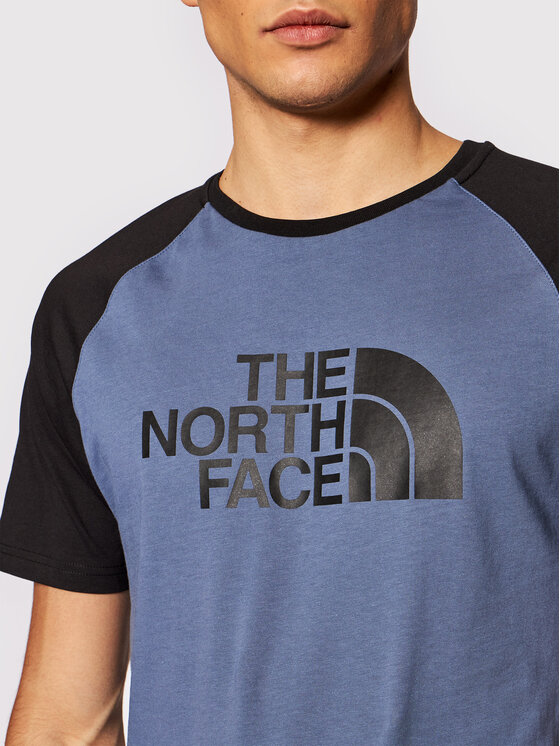 The North Face The North Face T-Shirt Raglan Easy NF0A37FVWC41 Niebieski Regular Fit