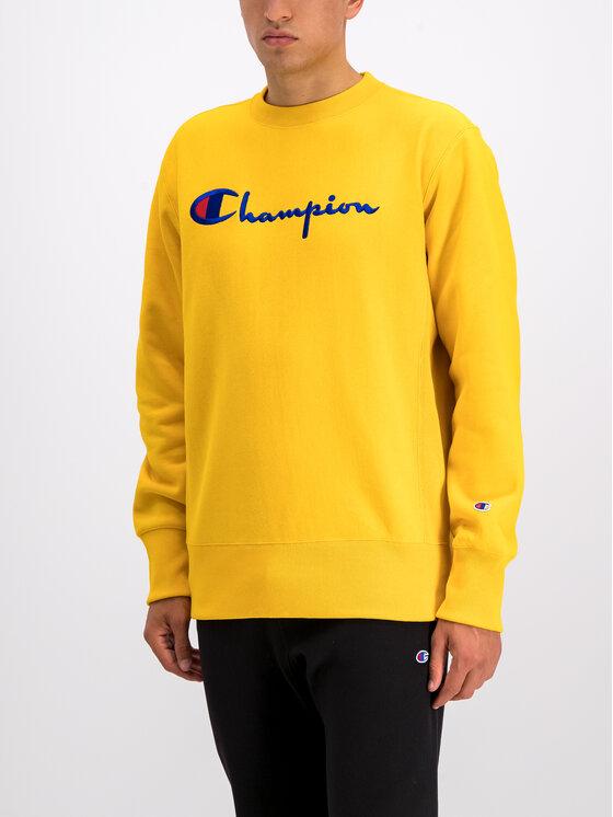 Champion Champion Bluza 212576 Żółty Regular Fit