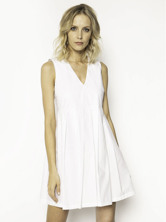 Manila Grace Kasdieninė suknelė A563CU Balta Regular Fit