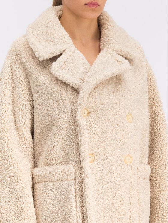 My Twin My Twin Žieminis paltas 192MT2020 Smėlio Regular Fit