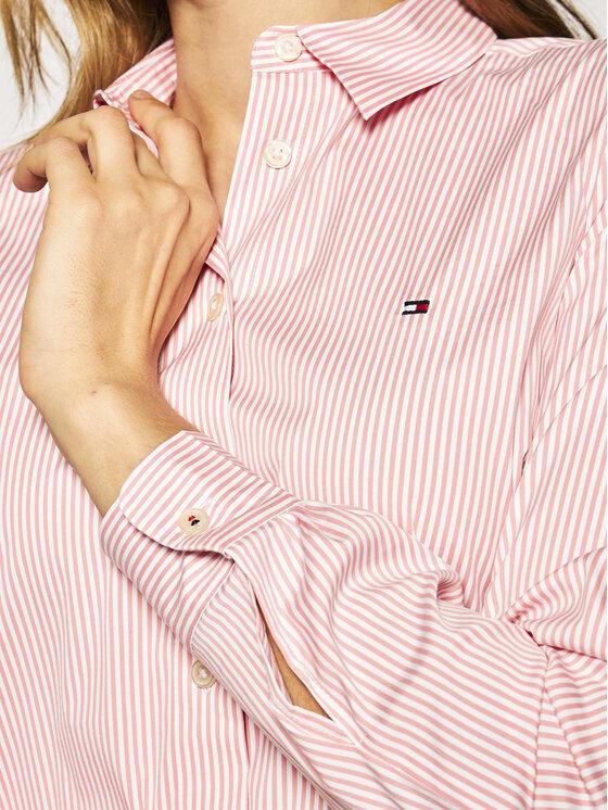 Tommy Hilfiger Tommy Hilfiger Marškiniai Essential WW0WW27388 Rožinė Slim Fit