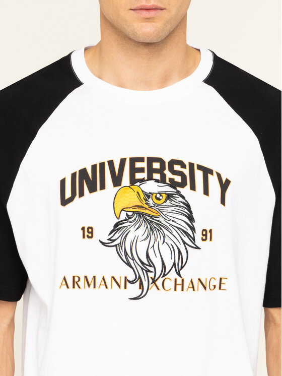 Armani Exchange Armani Exchange Marškinėliai 3HZTFD ZJH4Z 2181 Balta Loose Fit
