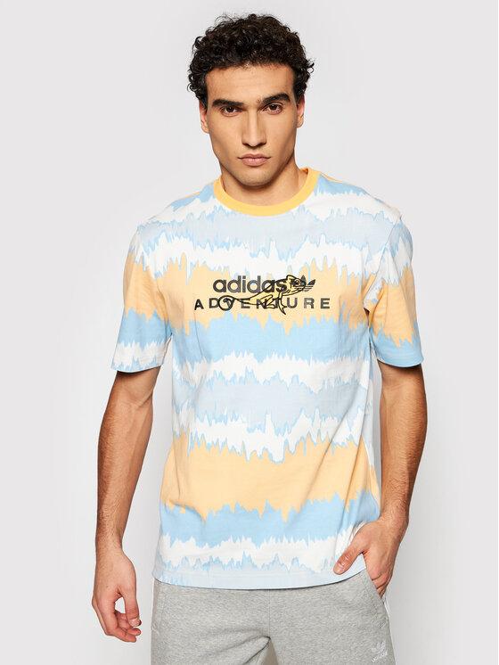 adidas Marškinėliai Adventure Archive Printed GN2361 Spalvota Regular Fit