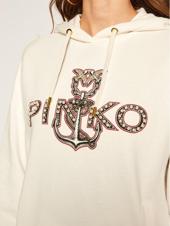 Pinko Pinko Džemperis Elgio AI 20-21 BLK01 1G15BS Y1C8 Balta Regular Fit