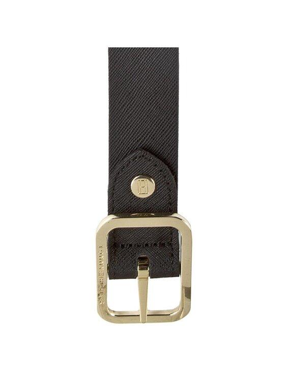 Tommy Hilfiger Tommy Hilfiger Dámský pásek Modern Leather Belt 3.0 Rev AW0AW02987 75 Černá