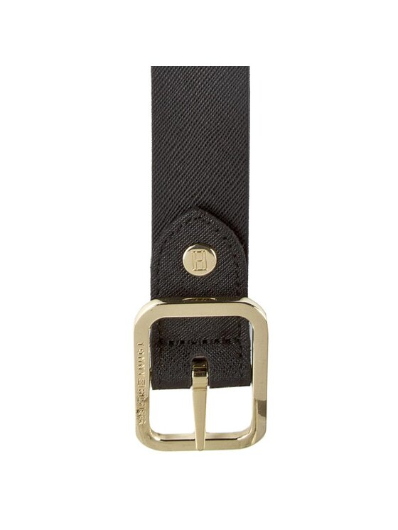 TOMMY HILFIGER TOMMY HILFIGER Ζώνη Γυναικεία Modern Leather Belt 3.0 Rev AW0AW02987 75 Μαύρο