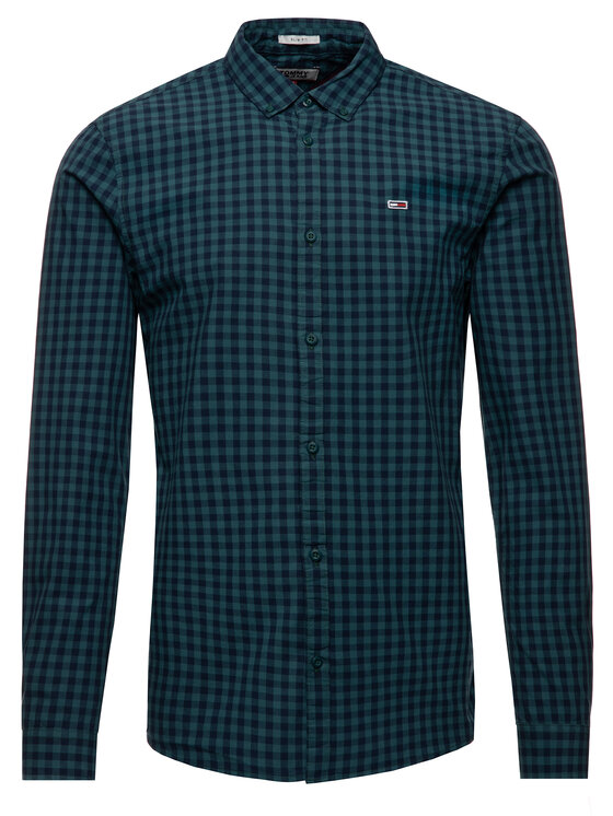 Tommy Jeans Tommy Jeans Marškiniai DM0DM06935 Žalia Slim Fit