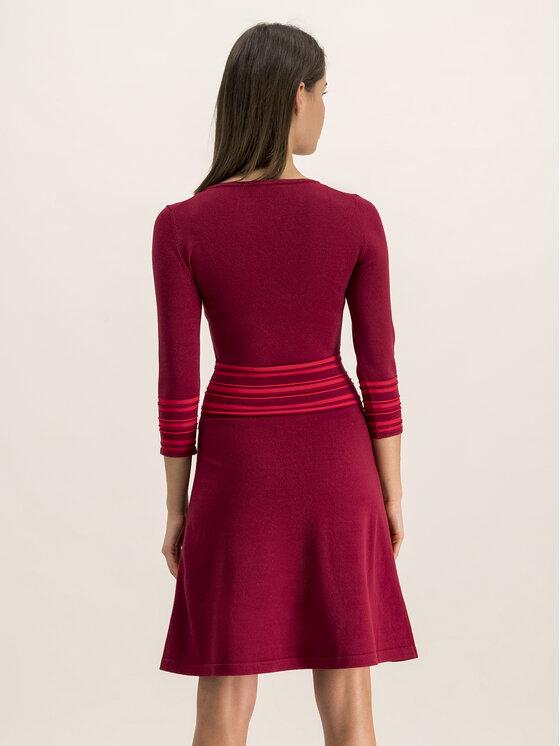 Hugo Hugo Плетена рокля 50413901 Бордо Regular Fit