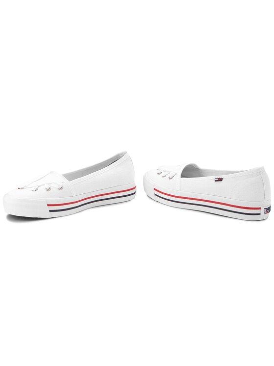 Tommy Jeans Tommy Jeans Πάνινα παπούτσια Lace Sneaker EN0EN00097 Λευκό