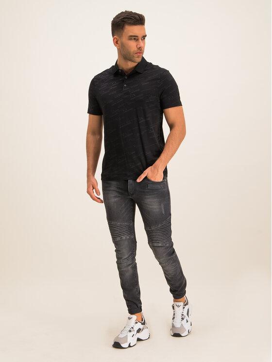 Armani Exchange Armani Exchange Тениска с яка и копчета 6GZFWA ZJ1XZ 7208 Черен Regular Fit