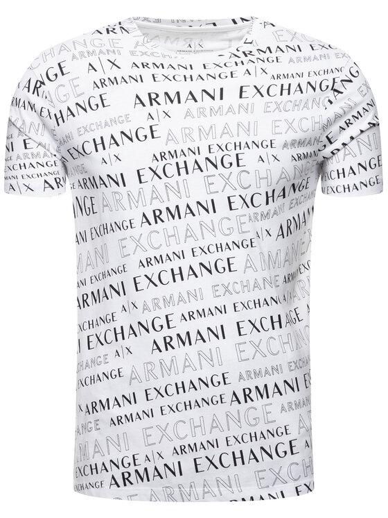Armani Exchange Armani Exchange Póló 6GZTAJ ZJH4Z 6125 Fehér Regular Fit