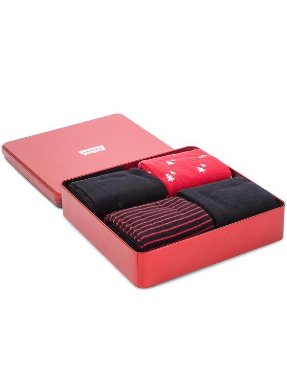 Levi's® Levi's Vyriškų ilgų kojinių komplektas (4 poros) 983032001 Juoda