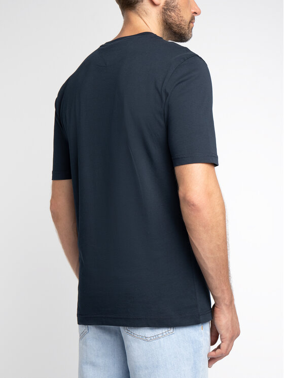 Tommy Hilfiger Tommy Hilfiger Tricou Print Applique MW0MW10808 Bleumarin Relaxed Fit
