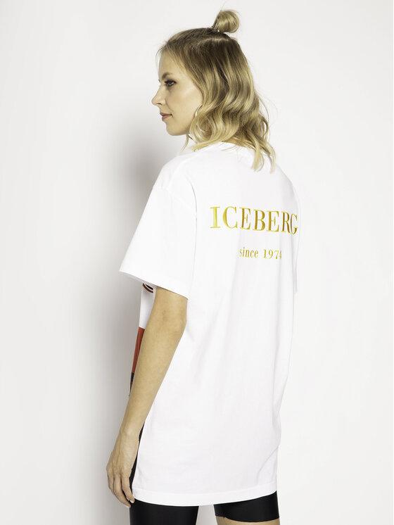 Iceberg Iceberg T-Shirt 20EI2P0F06363011101 Bílá Regular Fit
