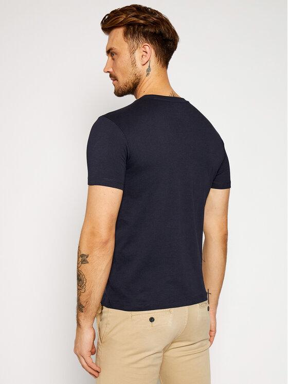 Marc O'Polo Marc O'Polo T-Shirt B21 2220 51068 Granatowy Shaped Fit