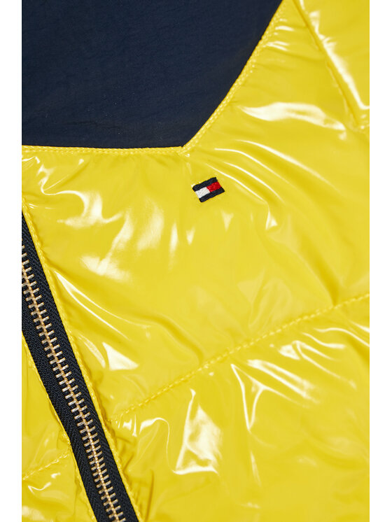 Tommy Hilfiger Tommy Hilfiger Kurtka puchowa Shiny Yoke Puffer KG0KG05384 M Żółty Regular Fit
