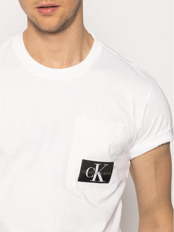 Calvin Klein Jeans Calvin Klein Jeans Тишърт J30J314820 Бял Regular Fit