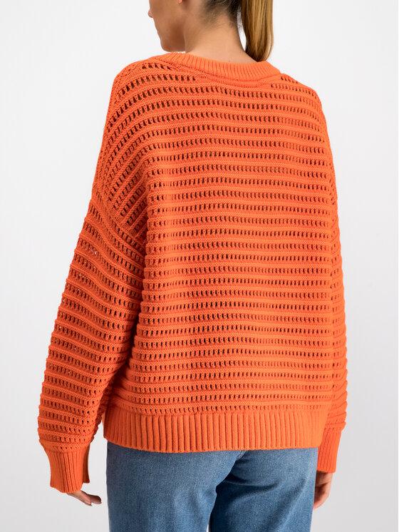 Tommy Hilfiger Tommy Hilfiger Sweater WW0WW25242 Narancssárga Oversize