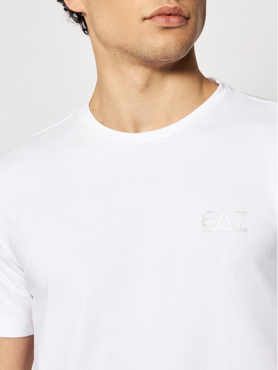 EA7 Emporio Armani EA7 Emporio Armani T-Shirt 8NPT52 PJM5Z 0100 Biały Regular Fit