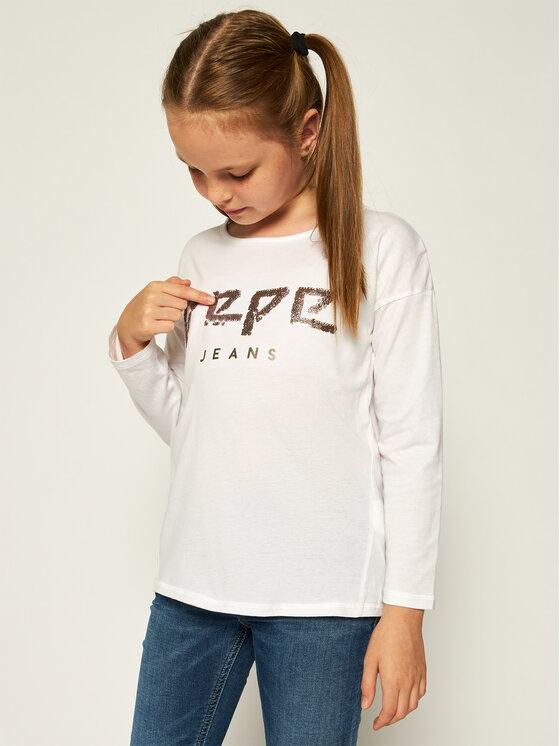 Pepe Jeans Pepe Jeans Bluzka PG502204 Biały Regular Fit