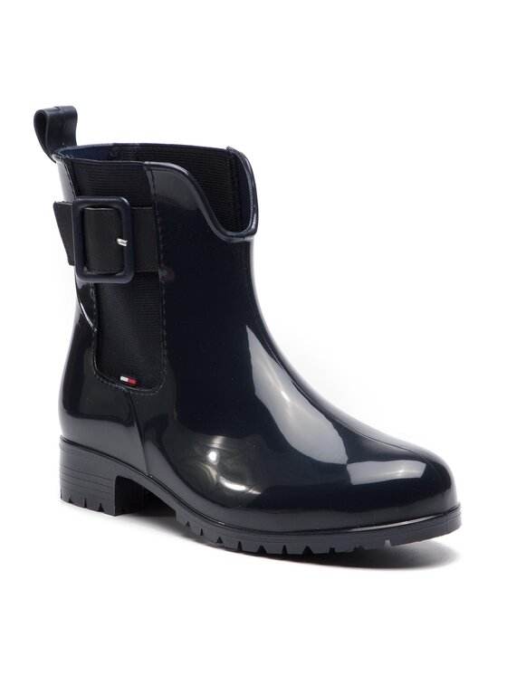 Tommy Hilfiger Tommy Hilfiger Гумени ботуши Sporty Color Mix Rain Boot FW0FW04101 Тъмносин