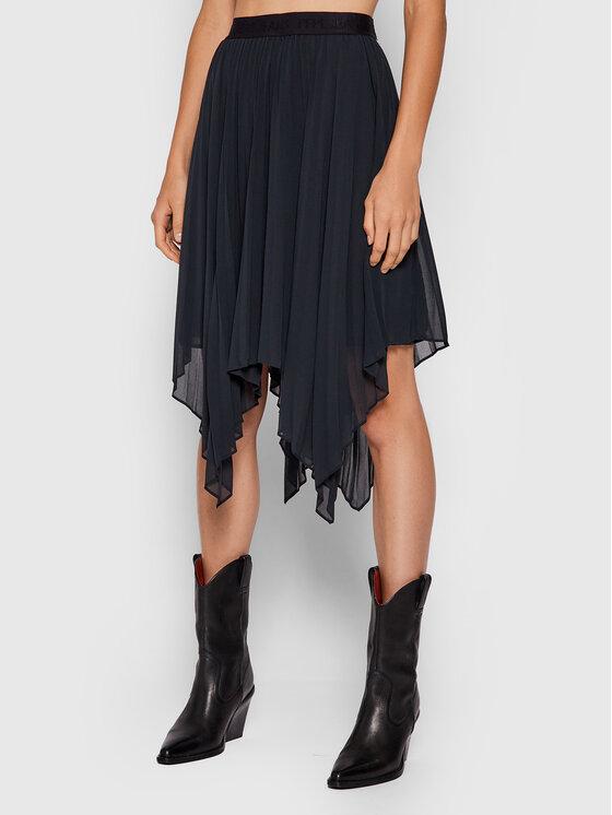 Levně Pepe Jeans tylová sukně Rubi PL900942 Černá Regular Fit