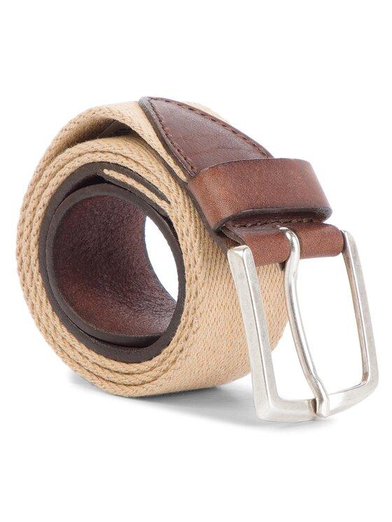Wrangler Wrangler Pasek Męski Canvas Belt W0B33894K Beżowy