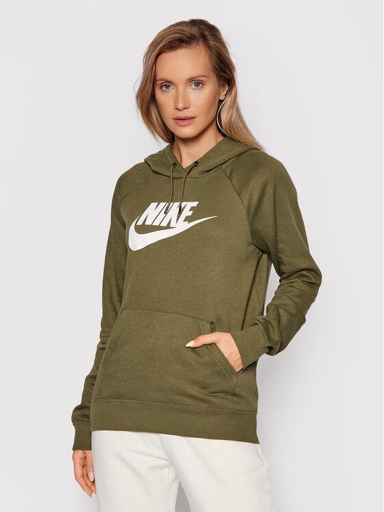 Nike Nike Majica dugih rukava Sportswear Essential Zelena Regular Fit