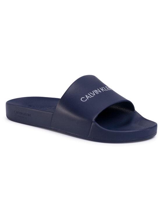 Calvin Klein Swimwear Klapki One Mold Slide KM0KM00498 Granatowy