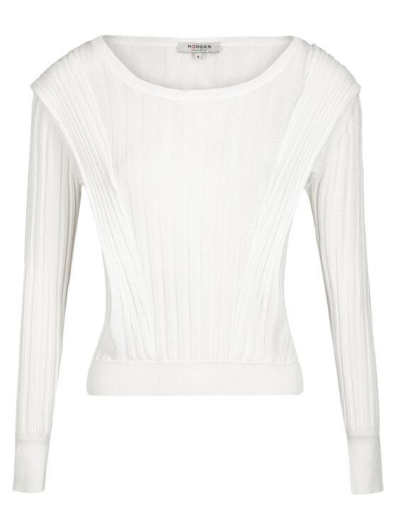 Morgan Morgan Sweter 211-MANGE Biały Regular Fit
