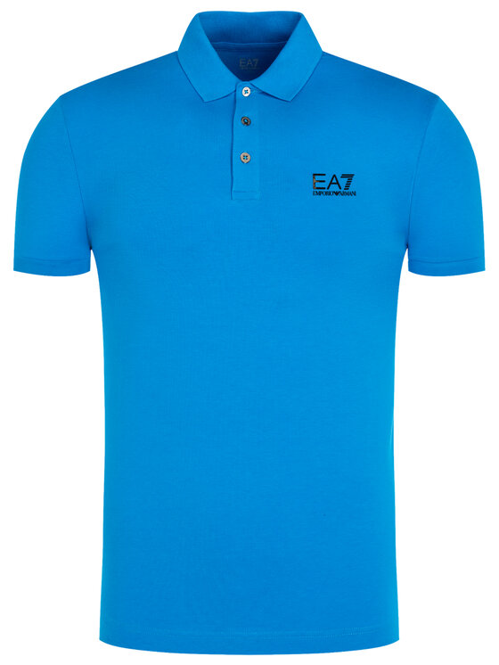 EA7 Emporio Armani EA7 Emporio Armani Polo marškinėliai 8NPF04 PJM5Z 1510 Mėlyna Regular Fit