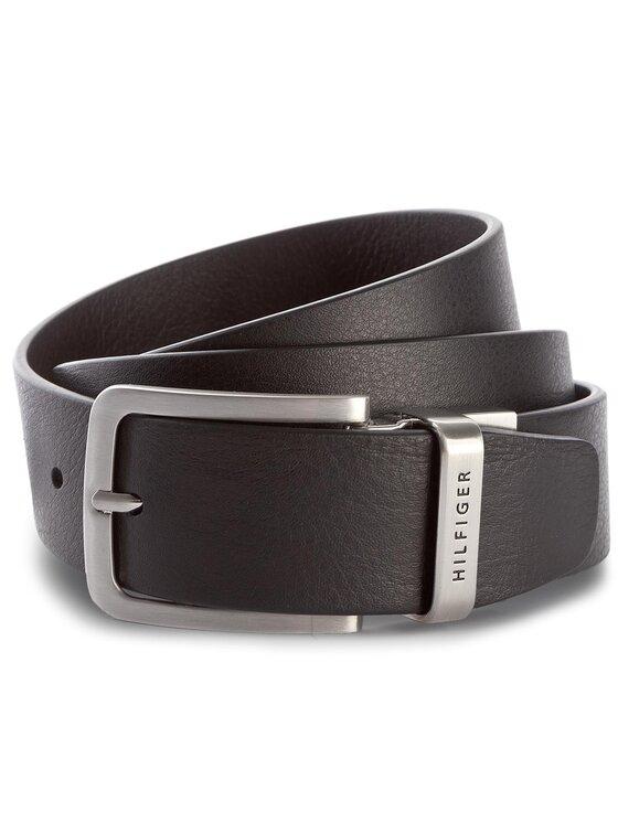 Tommy Hilfiger Tommy Hilfiger Cintura da uomo Hilfiger Loop Belt 3.5 Rev AM0AM03111 90 Nero