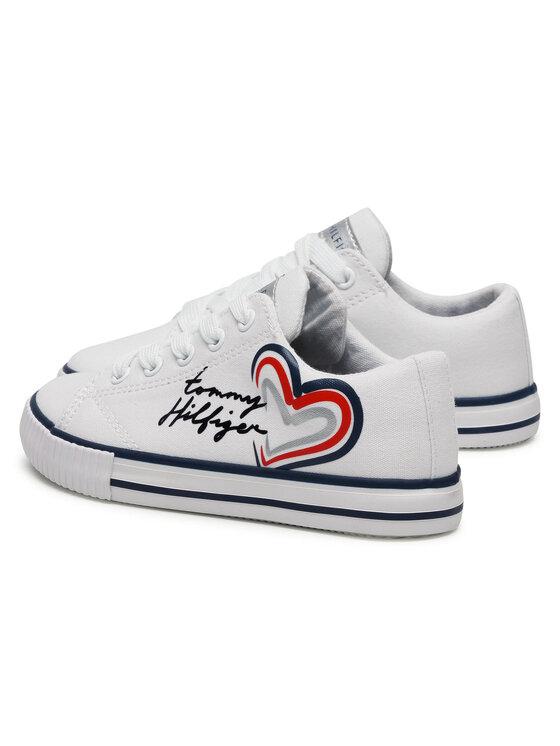Tommy Hilfiger Tommy Hilfiger Sneakersy Low Cut Lace-Up Sneaker 3A4-31009-1184 M Biały