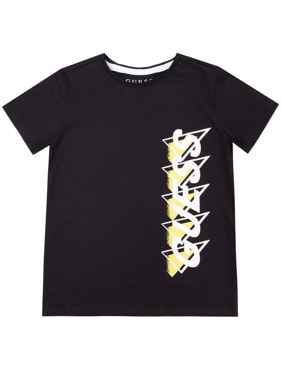 Guess Guess T-Shirt L01I02 K82E0 Czarny Regular Fit