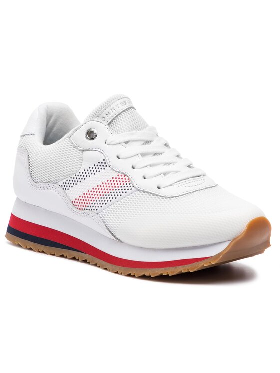 Tommy Hilfiger Tommy Hilfiger Сникърси Corporate Retro Sneaker FW0FW04022 Бял
