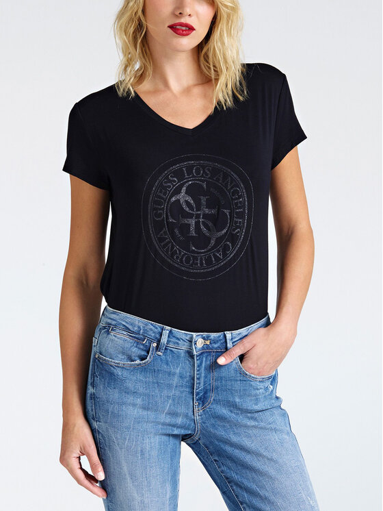 Guess Guess T-shirt W93I76 K68D0 Noir Regular Fit