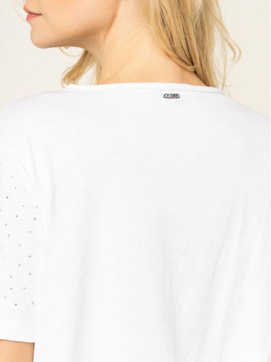 Guess Guess T-shirt Edwina W01P92 K7DN0 Blanc Slim Fit