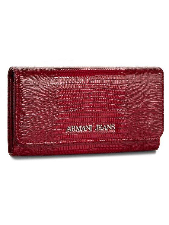 Armani Jeans Armani Jeans Duży Portfel Damski B5V41 W5 54 Czerwony