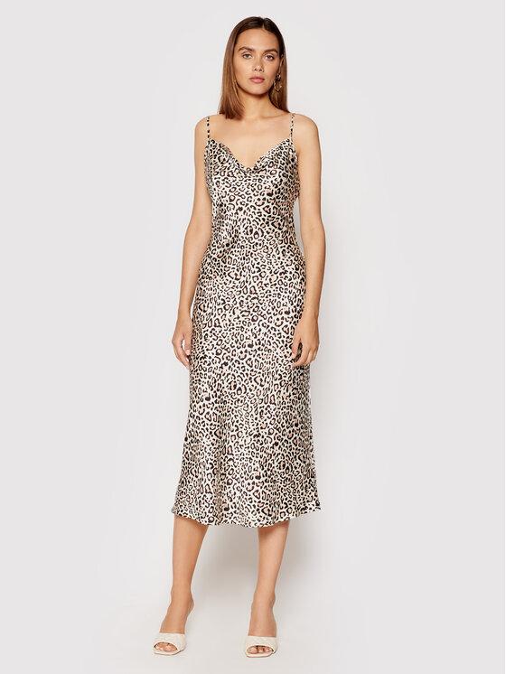 Guess Guess Sukienka wieczorowa New Akilina W1YK1C WD8G0 Beżowy Slim Fit