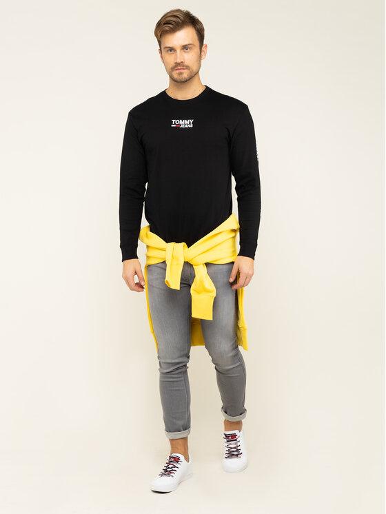 Tommy Jeans Tommy Jeans S dlhými rukávmi Corp DM0DM07431 Čierna Regular Fit