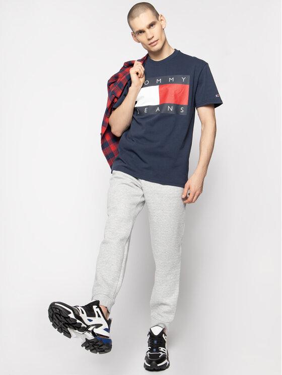 Tommy Jeans Tommy Jeans Tricou Flag Logo DM0DM07009 Bleumarin Regular Fit