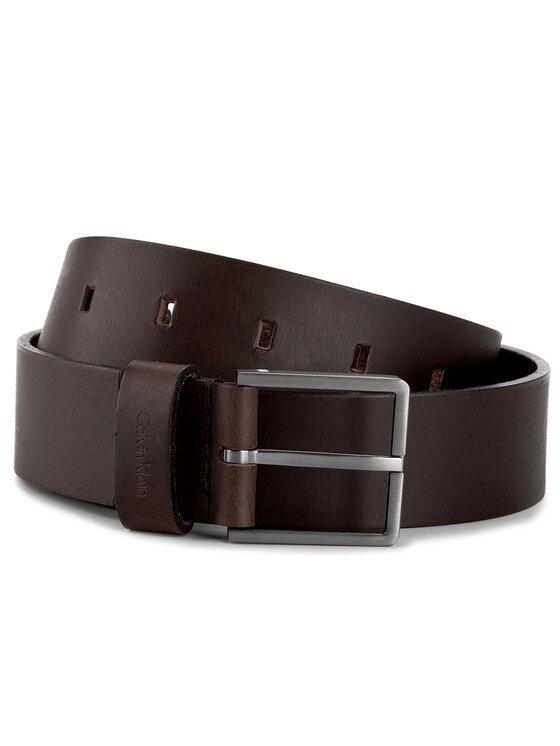 Calvin Klein Calvin Klein Pánský pásek Essential Belt 3.5 K50K503421 85 Hnědá