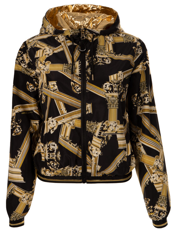 Versace Jeans Versace Jeans Átmeneti kabát C0HTB935 Fekete Regular Fit