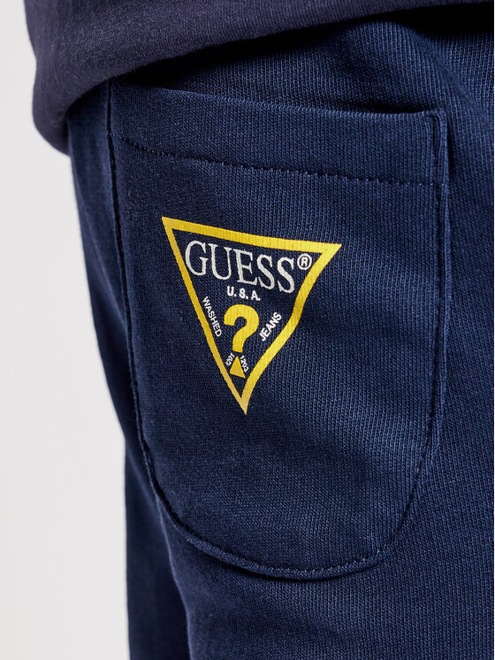 Guess Guess Pantalon jogging Core L93Q24 K5WK0 Bleu marine Regular Fit